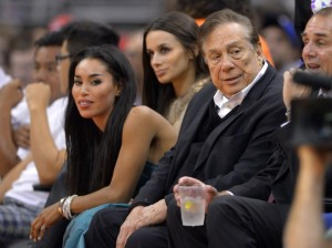V. Stiviano and LA Clippers owner Donald Sterling...just hanging out...you know like friends do...